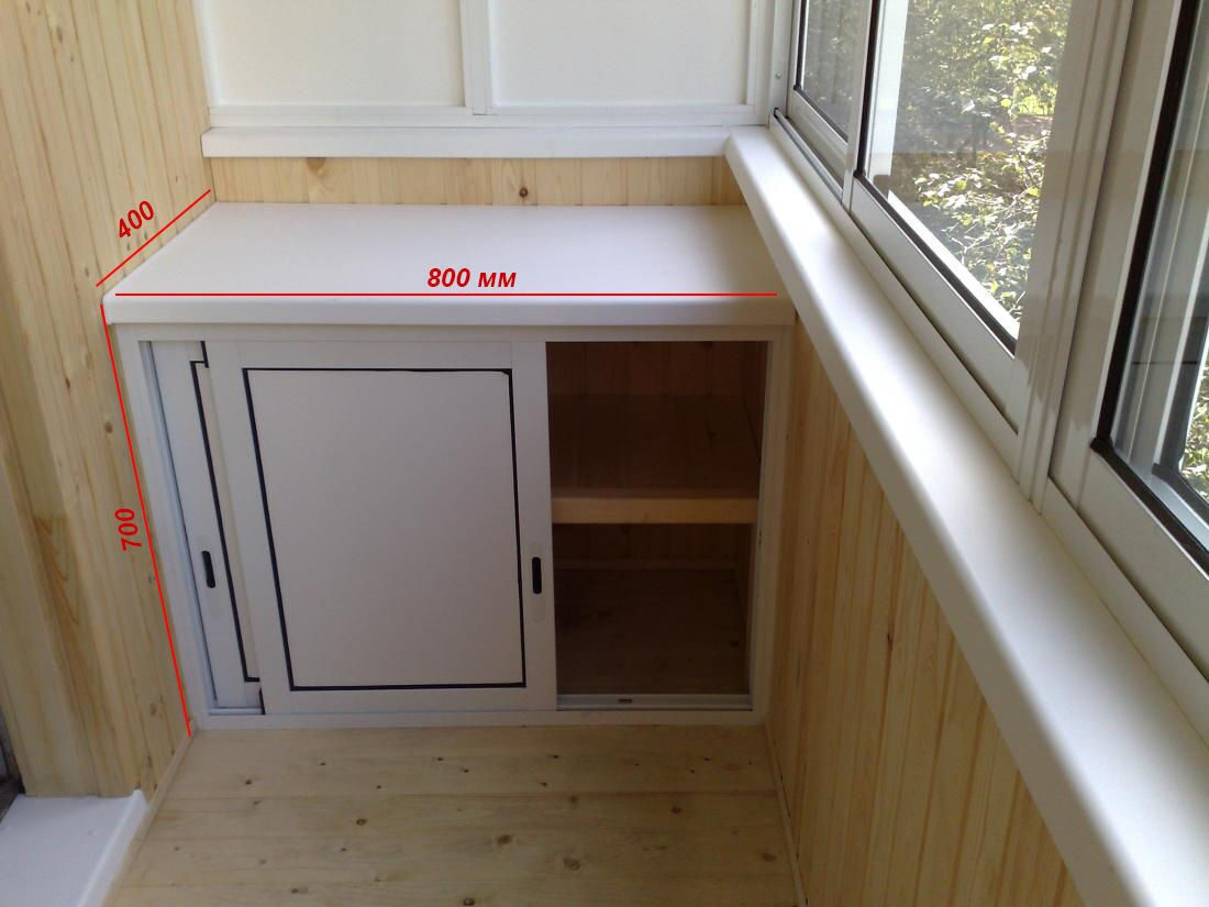 Изготовление мебели на балкон :: шкафы тумбы полки лари план.