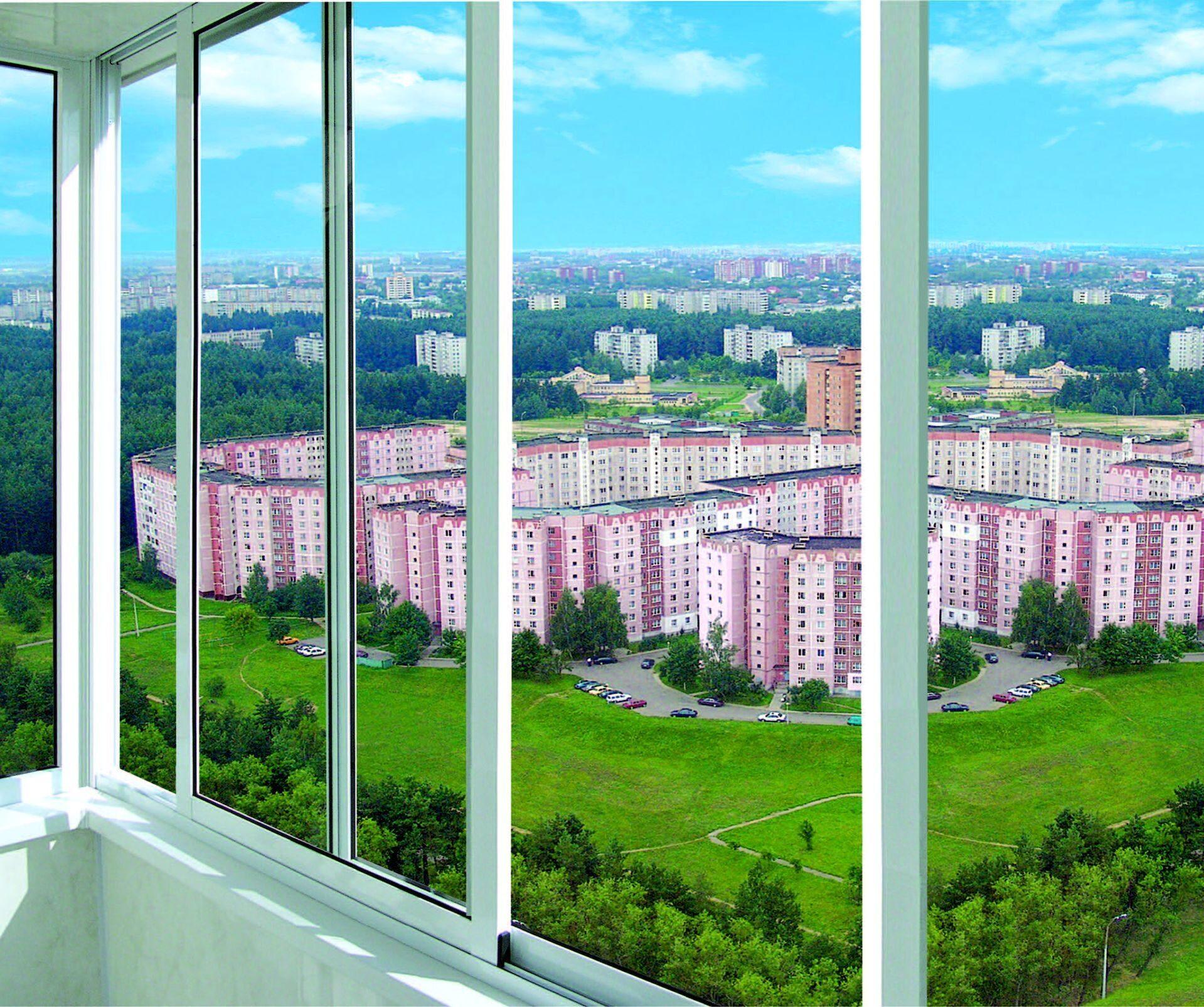 """Холодное остекление балконов и лоджий алюминиевым профилем """"."""