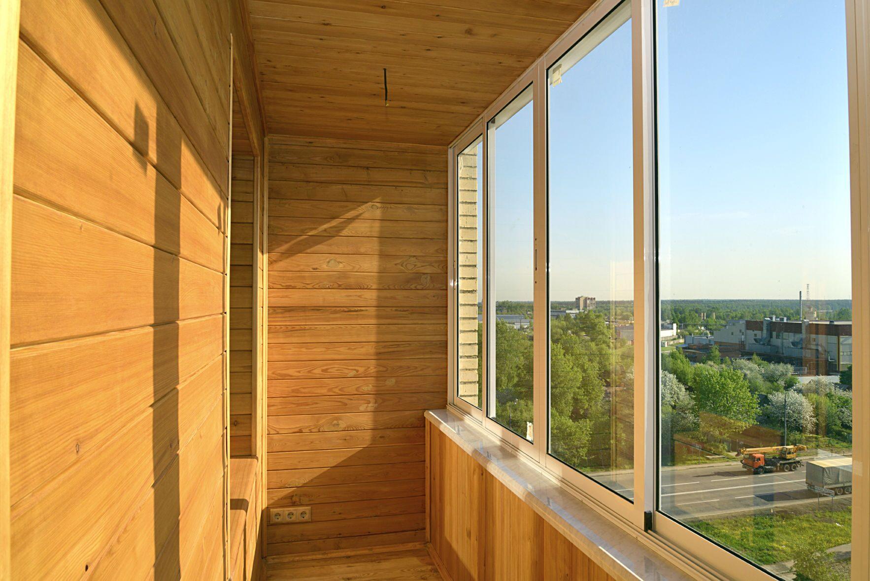 Внутренняя отделка балконов и лоджий: материалы и монтаж.