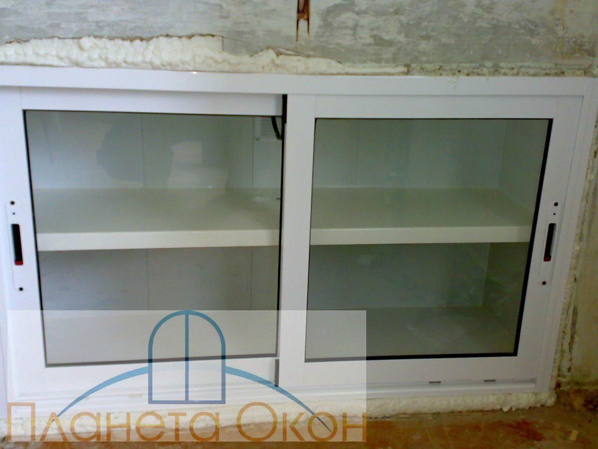 Отделка холодильника под окном своими руками видео